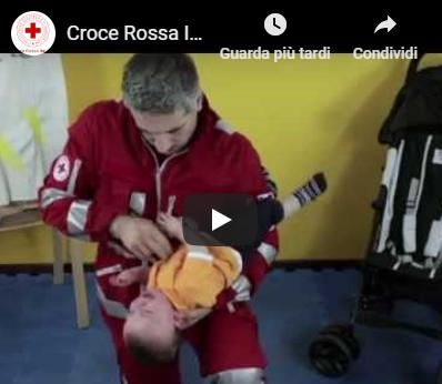 Video disostruzione delle vie aeree pediatriche della Croce Rossa Italiana